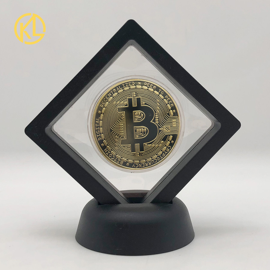 36 типов, догкоин, Золотая криптовалюта Ada, Кардано, BTC, крылато, литеин, EOS ETH, художественная коллекция, серебряная монета с черной витриной