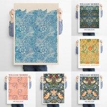 Affiche d'exposition de William Morris, impression de William Morris, tapis décoratif d'art Nouveau, arrière-plan en tissu texturé, Art Textile