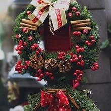 50 шт. с Рождеством искусственный Рождественский Падуб ягодные стебли Рождественская елка гирлянды DIY ремесло поставки искусственные фрукты