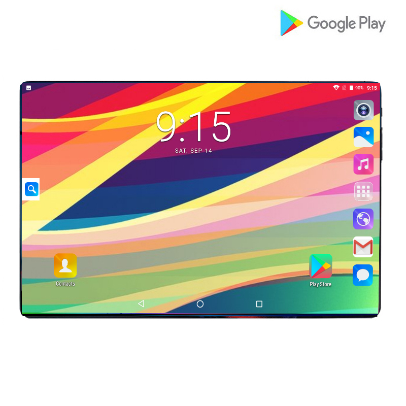 100% Orignal Super Tempered 2.5D Glass 4G FDD LTE 10 Inch Tablet Pc Octa Core 6GB RAM 128GB ROM WIFI Android 9.0 Tablets 10.1