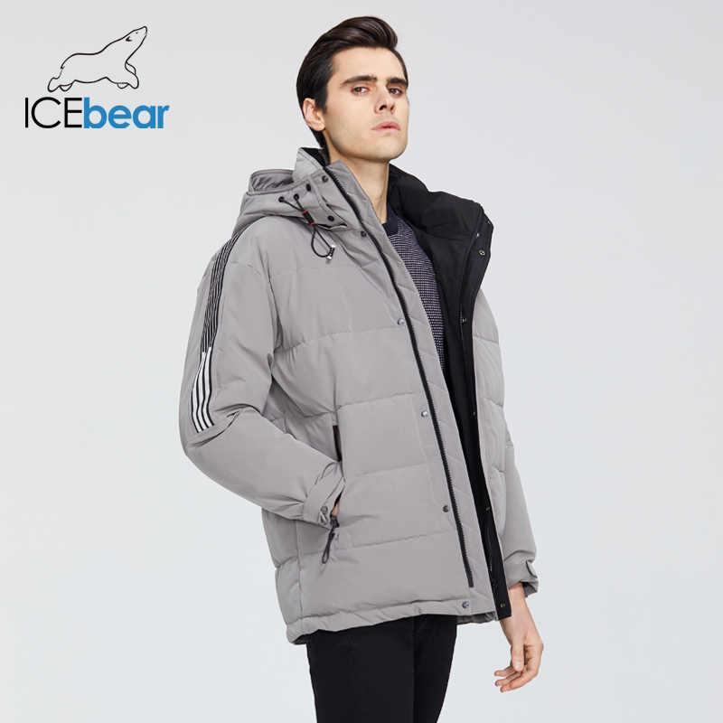 ICEbear 2019 ใหม่ฤดูหนาวเสื้อผู้ชายคุณภาพสูงชาย Parkas แบรนด์เสื้อผ้า MWD19959I