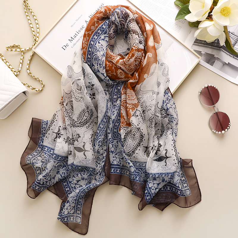HIGH QUALITY Glitter Pineapple Fruit Print Women/'s  Scarf Shawl