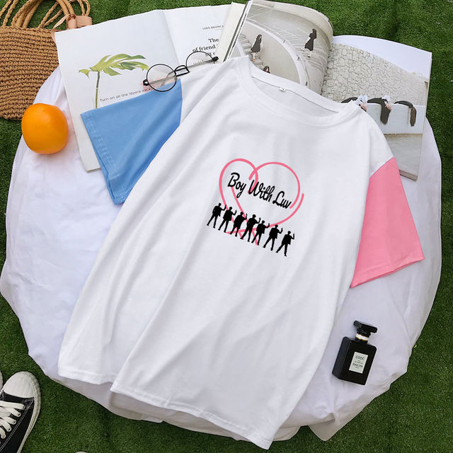BOY WITH LUV THEMED T-SHIRT