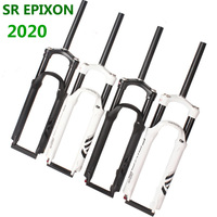 2020 EPIXON SR SUNTOUR Bike Fork EPICON 26/27.5/29er Mountain MTB Bicycle Fork suspension of air damping Front fork travel 100mm