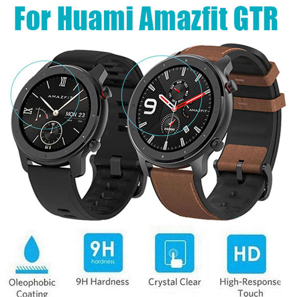 1PC Clear Film Tempered Glass Screen Protector for AMAZFIT GTR Smart Watch 42/47mm
