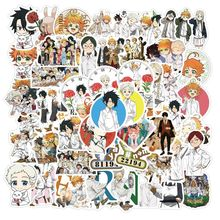 50pcs/pack Japanese Anime The Promised Neverland Stickers for Notebook Motorcycle Skateboard Computer Mobile Phone Cartoon Toy