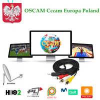 Cccam Europa 7cline for 1 Year Spain Oscam Cline Poland Nederlands Portugal Italia UK Enigma2 Satellite Tv Receiver Free Dazn