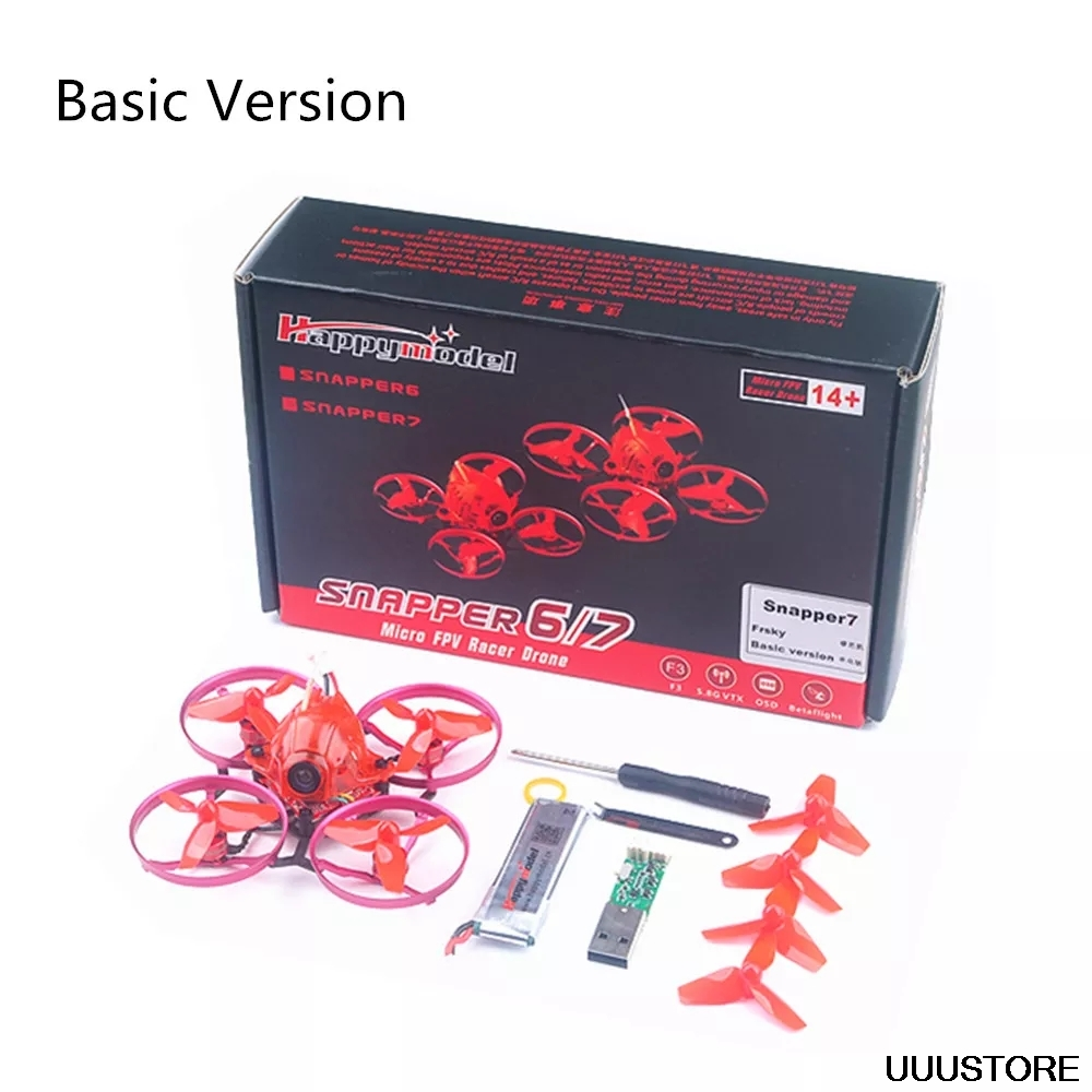 Upgrade Happymodel Snapper7 75mm Crazybee F3 5A ESC 1S FPV Racing Drone BNF  w/ 700TVL Camera
