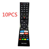 (10PCS)New RM C3338 Replacemen for JVC Smart LED TV Remote Control for LT24C680 LT 24C680 with Prime video Youtube NetFlix Fplay