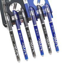 3Pcs/Set Erasable Pen Set Washable Handle 0.5mm Blue Black Gel Refill Rod School Office Writing Stationery Supplies