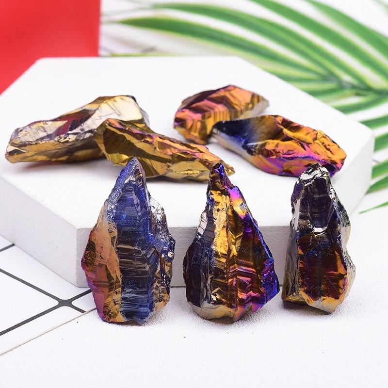 1 шт. натуральный красочный Гальваническое сырье, красящий энергетический камень, камень для мелких скал, рейки, гексименр, домашний декор, с...