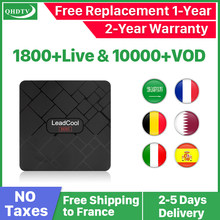 Leadcool Mini Smart Tv Box Android 8.1 français arabe IPTV France abonnement QHDTV Code IPTV pays-bas albanie 4K médias Playe(China)