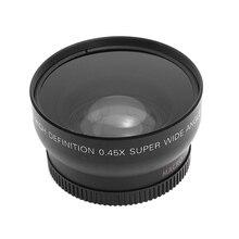 Andoer HD 52MM 0.45x lente de cámara DSLR gran angular con lente Macro para Canon Nikon Sony Pentax con 52mm tamaño rosca de filtro de lente