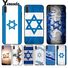 Yinuoda For iphone 7 XSMAX Case israel flag Country banners Israeli Phone Case for iPhone X 8 7 6 6S Plus X 5 5S SE XR XS XSMAX(China)