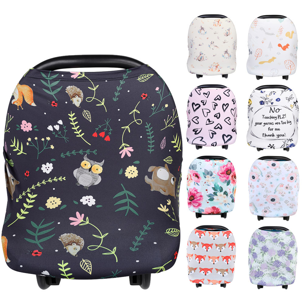 Fashion Nursing Breastfeeding Covers Baby Car Seat Canopy For Newborns Soft Nusing Cover Stroller Covers Shopping Cart Cover