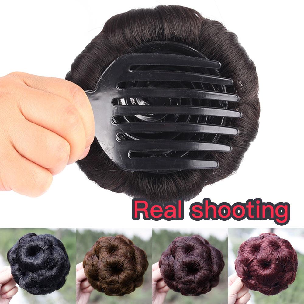 Cabelo brasileiro remy cabelo feminino encaracolado chignon