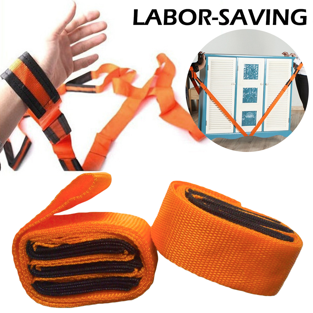 2pcs Forearm Forklift Lifting Moving Strap Transport Belt Wrist Straps Furniture For Home Move House Convenient Tools