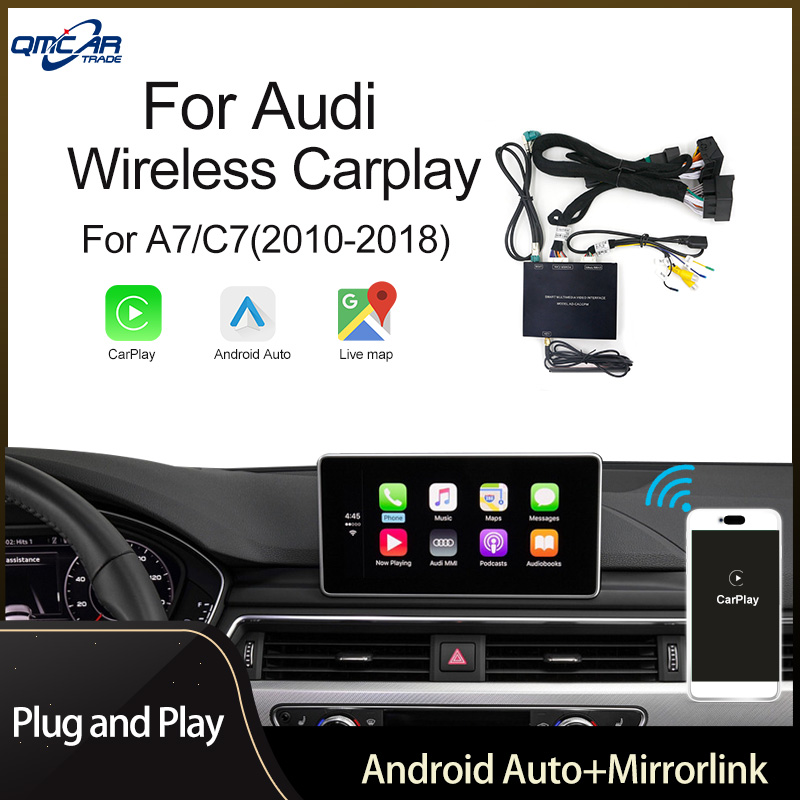 QMCAR Wireless Apple CarPlay for Audi A7/C7 2010-2018 Android Auto /Carplay Support Airplay Multimedia player/HDMI dispiay Ios13 image