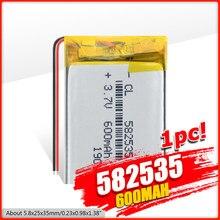 1/2/4 Pcs 582535 600mAh litowo-jonowe baterie polimerowe do zegarka GPS LED Light MP3 Toy Dvr film nawigacyjny rejestrator