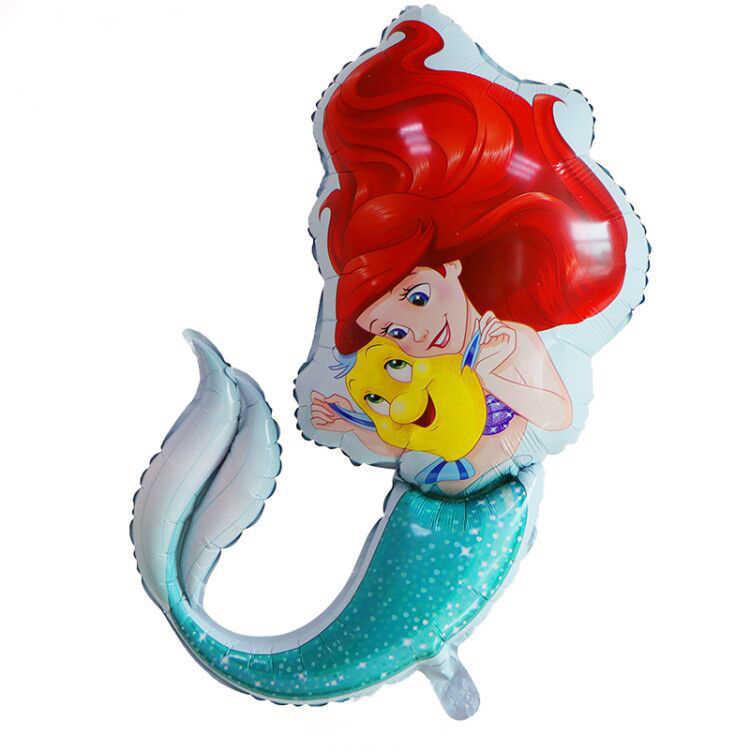 1pcs 82*67 ซม.Mermaid Princess ฟอยล์บอลลูนใต้ทะเลธีมงานแต่งงาน party อุปกรณ์ตกแต่งฝักบัวเด็กสาววันเกิดของขวัญของเล่น