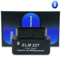 Super mini elm327 bluetooth v1.5 elm 327 v 1.5 obd 2 carro ferramenta de diagnóstico scanner elm-327 obdii adaptador protocolos leitor de código