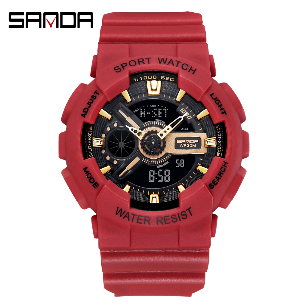 2020 SANDA Military Men's Watch Top Brand Luxury Waterproof Sport Wristwatch Fashion Quartz Clock Couple Watch relogio masculino 8