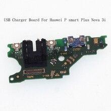 لوحة شاحن ومقبس USB لهواوي P سمارت بلس ، وحدة ميكروفون ، موصل كابل لهواوي نوفا 3i ، طقم إصلاح