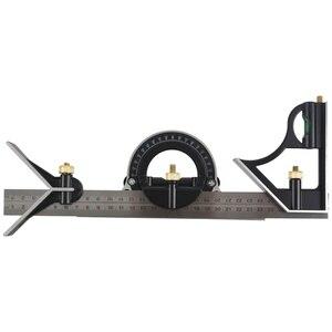 Image 2 - Комбинированный квадратный набор угловой искатель и транспортир спиртовой уровень алюминиевый сплав линейка Mitre