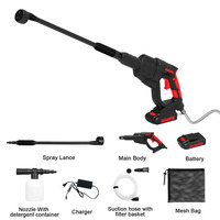 Cordless Car Washing Gun Electric Pump High Pressure Washer for Garden Cleaning Stainless Steel
