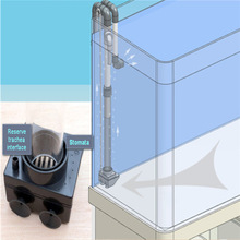 BOTTOM-FILTER Overflow Sump Tropical-Fish-Tank Marine Siphon for Fresh Hole-Non-Perforated