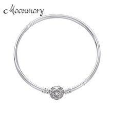 Moonmory 100% de Plata de Ley 925 auténtica para mujer, pulsera con cierre para madre, brazaletes para mujer, dijes, fabricación de joyas, 2020