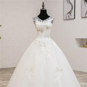Image 5 - Vestidos de noiva moda elegante, vestidos de noiva com decote em v, novo verão, coreano, aplique, de renda, 2020 0.8