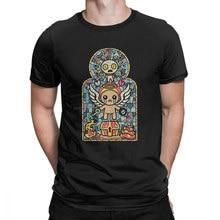 Camiseta de encuadernación para hombres, camisa impresionante de manga corta con cuello redondo, de algodón, de talla grande