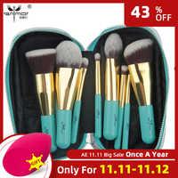 Anmor 9PCS Spazzole di Trucco Professionale Make up Brush Set Sacchetto Portatile Prodotti di base Ombretto Strumenti di Cosmetici pinceaux maquillage