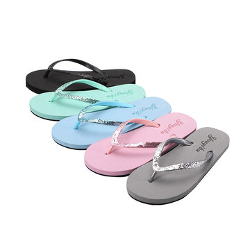 Slippers women's summer fashion casual solid color non-slip women's flip flops wear-resistant beach shoes