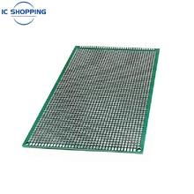 Panneau de bricolage en fibre de verre 2.54mm, 10x15 10x15cm, Prototype Double face PCB étamé, panneau d'expérimentation, trou d'anneau, planche à pain