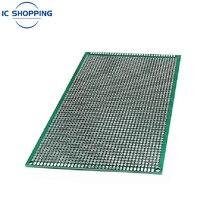 Tablero de fibra de vidrio de doble cara, prototipo de doble cara, 10x15, 10x15cm, PCB estañado, experimento, anillo de tabla, tablero de pan con orificio de 2,54mm