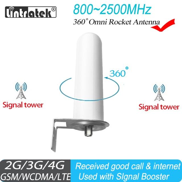 Уличная антенна Lintratek Omni для 800 МГц 2500 МГц 2G 3G 4G GSM ретранслятор, усилитель сотовой связи, Интернет Усилитель мобильного сигнала