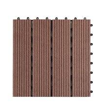 Сад Балкон 30x30 см Антикоррозийная DIY сплайсинга пол настил плитки аксессуары для патио экологически чистые доски террасы открытый