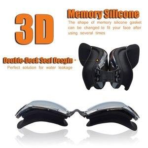 Image 4 - Профессиональные очки для плавания ming HD противотуманные 100% УФ Регулируемые очки с ремнем для плавания очки для взрослых водонепроницаемые очки по рецепту