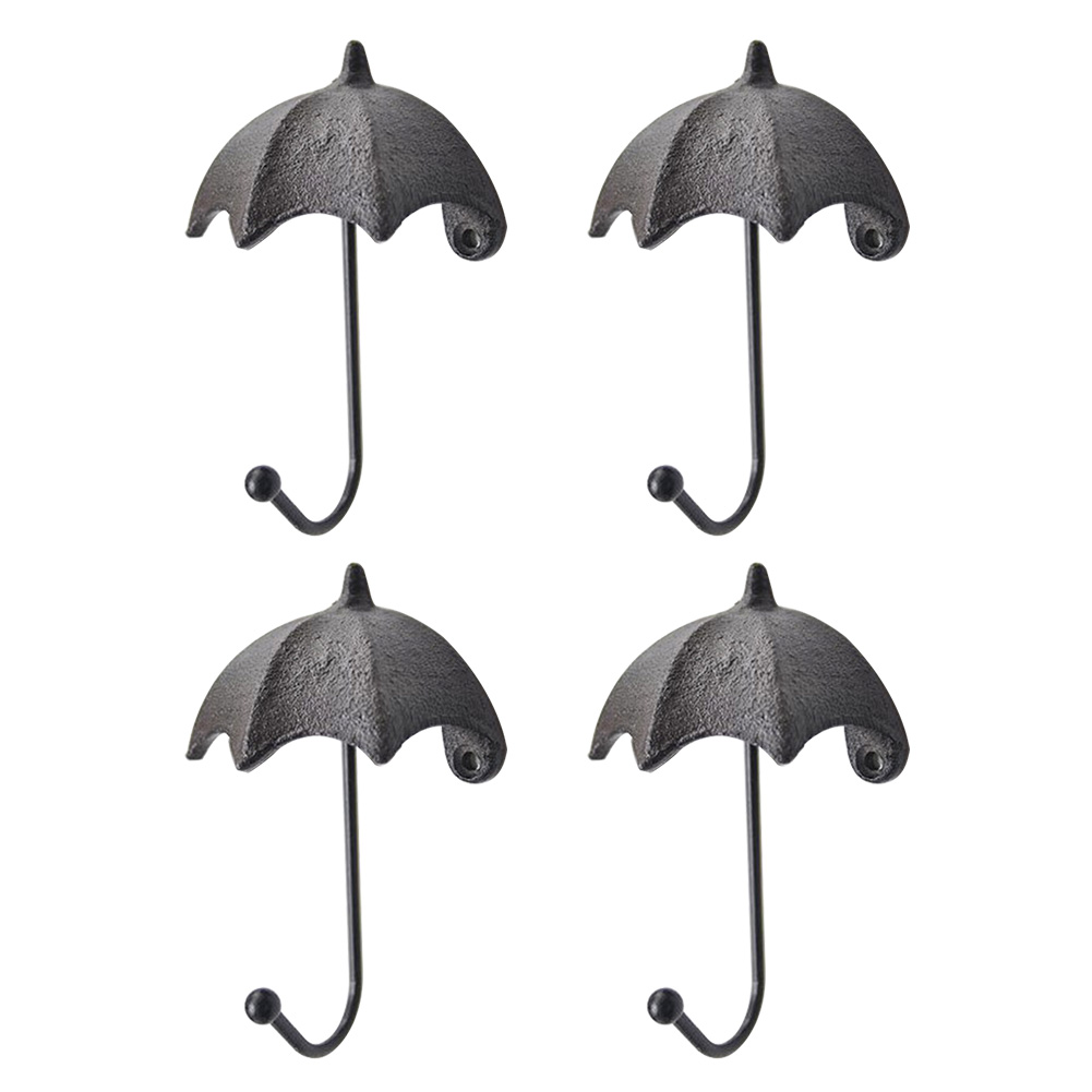 Iron Structure Kitchen Umbrella Shape Hook Wall Decorative Key Storage Living Room Hanging Bag Cute Home Ornament Simple Modern