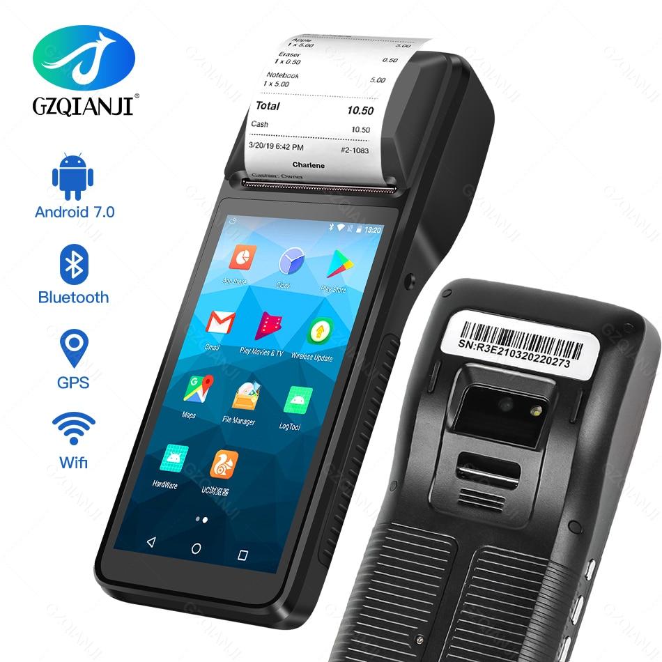 Портативный термальный принтер 3G WIFI Android 7,0 PDA, умный POS-терминал, Беспроводной Портативный чековый принтер с интеллектуальной функцией