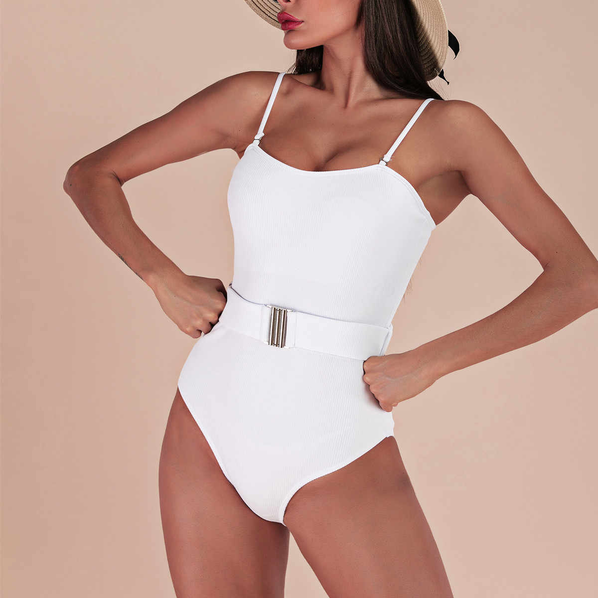 Biquinis 2019 mulher de cintura alta um pedaço maiô push up mulher maiô sheer bikini cintura alta micro tanga bikni