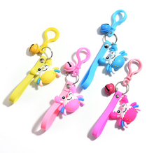 Creative PVC Chain for Pants Cartoon Keychain Man Key Chain Crab Women Ouples Keyring Pendant Blue Key Ring Accessories Brelok keychain acrylic man key chain identity v women key ring chain for pants pendant kids key holder jewelry brelok kael invoker