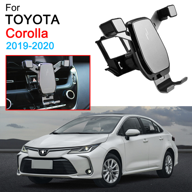 Car Phone Holder Air Vent Mount Clip Clamp Mobile Phone Holder for Toyota Corolla Altis Accessories 2019 2020