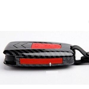 Image 3 - 패션 ABS 실리카 젤 + 탄소 섬유 자동차 키 커버 케이스 보호 도요타 캠리 CHR 프리우스 Corolla RAV4 프라도 Auris Corolla Avens