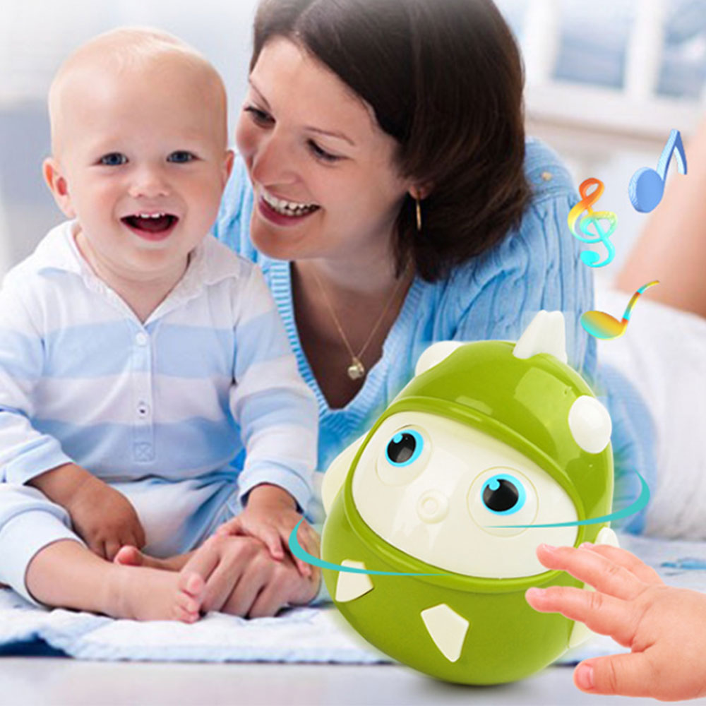 Baby Newborn Toy Nodding Tumbler Toys For Kid Ring Bell Cute Cartoon Roly-poly Early Educational Rattle Baby Development Toys