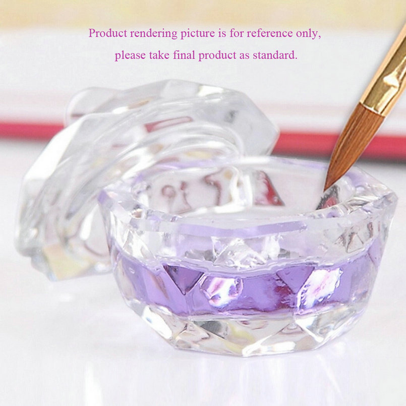 Nail Crystal Cup Glass Dappen Dish Cup Nail Art Acrylic Liquid Powderstyling Tool Nail Dust Collector Clear Professional
