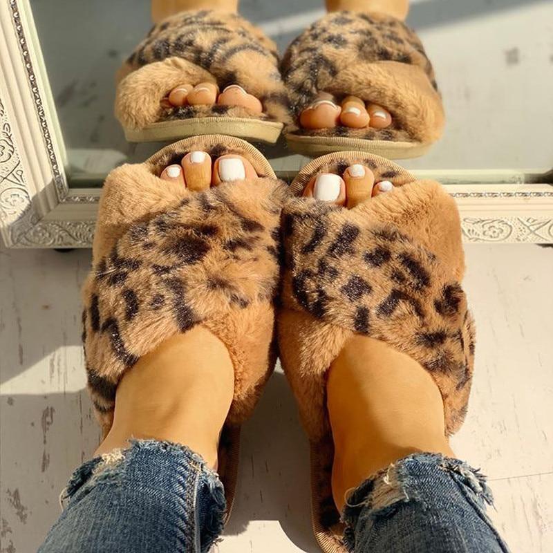 Зимние женские домашние тапочки из искусственного меха; Модная теплая обувь; Женские слипоны на плоской подошве; Женские шлепанцы; Цвет черный, розовый; Удобные домашние меховые Тапочки|Тапочки|   | АлиЭкспресс