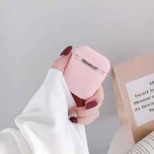 Image 5 - Sevimli kulaklık kapak Apple AirPods için 1 2 kılıfları AirPods2 koruma hava bakla mat cilt buzlu sert pembe aşk kalp aksesuarları